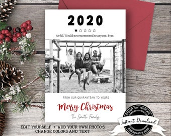 2020 Christmas Card | Funny Christmas Photo Card | 1 Star Review 2020 Card