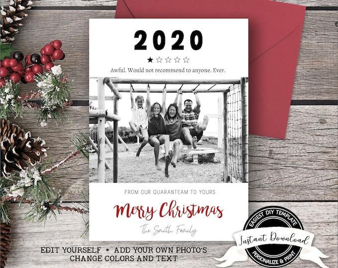 2020 Christmas Card | Funny Christmas Photo Card | 1 Star Review 2020 Card
