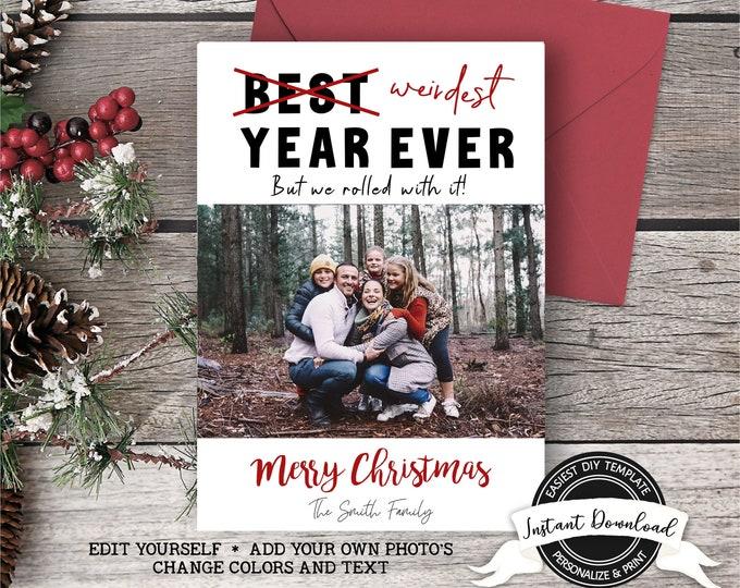 2020 Christmas Photo Card | Printable Funny Christmas Card | Weirdest Year Ever Christmas Card