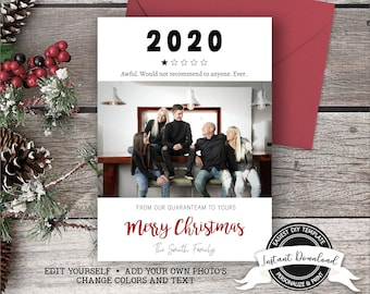2020 Christmas Photo Card | Funny Christmas Card with Photo