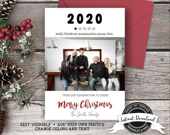 2020 Christmas Photo Card | Funny Christmas Card with Photo