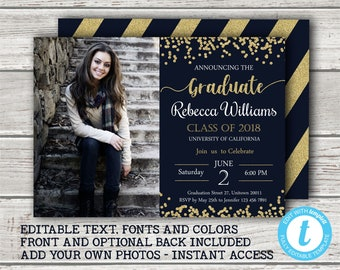 graduation invite etsy
