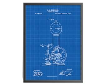Bicycle Trainer - Bicycle Trainer Patent Art Print - Bicycle Patent Print - Exercise Equipment Patent Art Print - Gymnasium Art Print