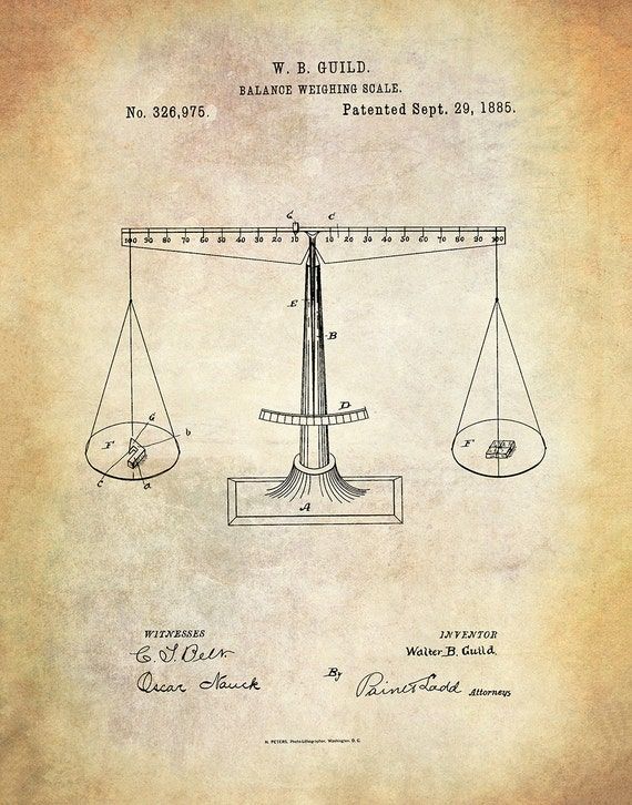 8x10 or 16x20 Microscope 1885 Vintage Science Patent Art Print Poster