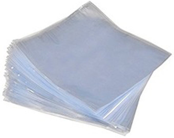 "9""x14"" PVC Heat Shrink Bags 80 Gauge with vent hole 50 count Per Bag"