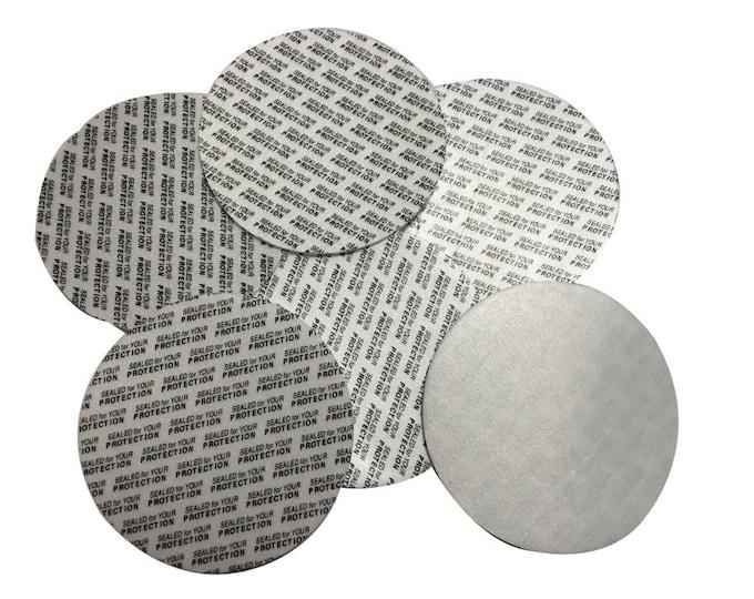 70mm Pressure Sensitive PS Foam Cap Liners Seal Tamper Seal Sealed for your Protection US Seller