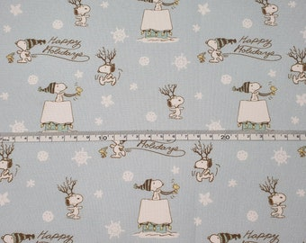 Snoopy Happy Holidays Christmas Fabrics 100% Cotton - Quilting - Sewing - Patchwork - English Paper Piecing - Slow Stitching