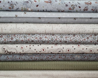 Lynette Anderson Corner Of The Wood Fabric 100% Cotton - Quilting - Sewing - Patchwork - Quilting - Sold By The Fat Quarter