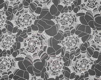 Halloween Spider Web Fabric 100% Cotton - Quilting - Sewing - Patchwork - English Paper Piecing