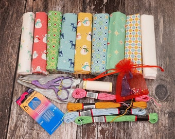 Slow Stitching Christmas Kit 1