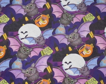 Halloween Haunting Bats Fabric 100% Cotton - Quilting - Sewing - Patchwork - English Paper Piecing