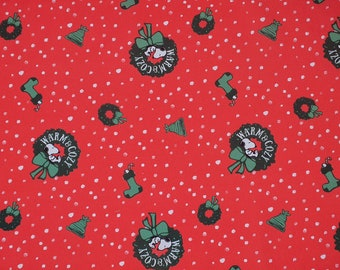 Snoopy Warm & Cozy Christmas Fabrics 100% Cotton - Quilting - Sewing - Patchwork - English Paper Piecing - Slow Stitching