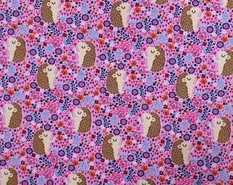 Hedgehog Cotton Jersey Pink- Leggings - Romper -T shirt - Dress - Baby Clothes - Pet Bandaner
