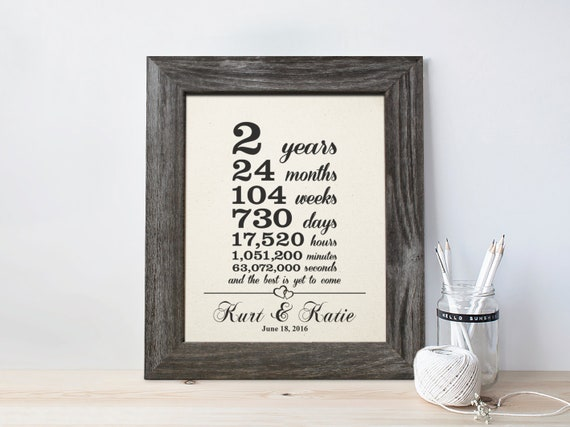 Wedding Anniversary Gifts By Year Uk: Cotton Anniversary Gift 2nd Wedding Anniversary Gift 2