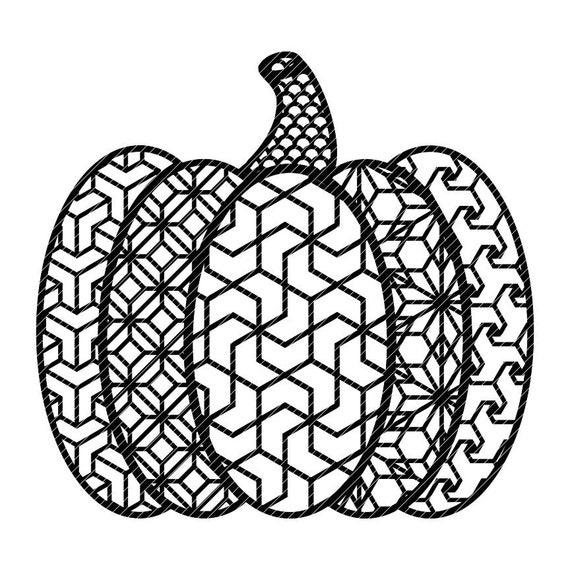 Zen Pumpkin Zentangle Fancy Fall Autumn Halloween Mandala Etsy