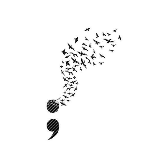 Uccelli Cricut Clipart Grafica E Di Svg Vettoriale Silhouette Consapevolezza Png Tshirt Taglio File Cameo Punto VirgolaSuicidio Jpg Prevenzione exBQrdWCo