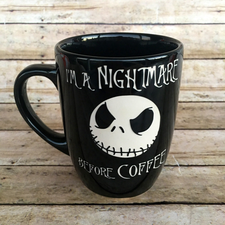 Nightmare Before Christmas Jack Skellington ETCHED Ceramic | Etsy