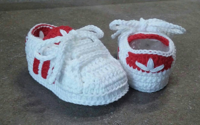 d53dd4638d62 Crochet adidas shoes for babies
