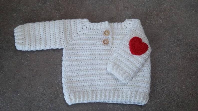 Maglione bebe  lavorato a uncinetto crochet baby sweater  564b00f6d401