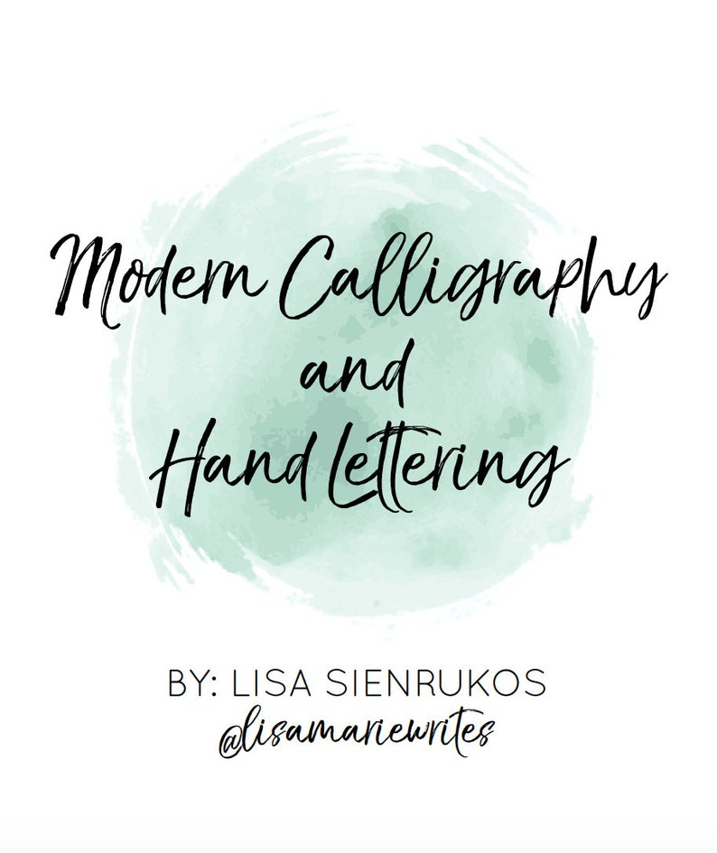 Modern Calligraphy and Hand Lettering Digital Workbook image 0