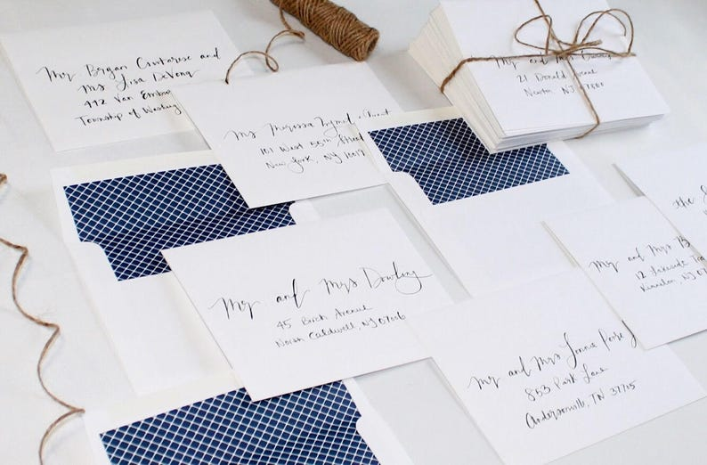 Handwritten Calligraphy Envelopes Envelope Addressing  image 0