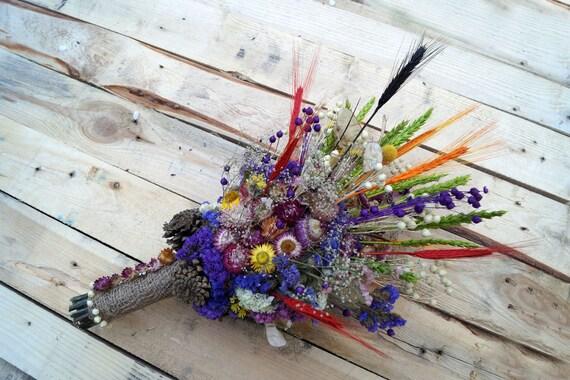 Hochzeit Getrocknete Blumen Wilde Blumen Blumenstrauss Etsy