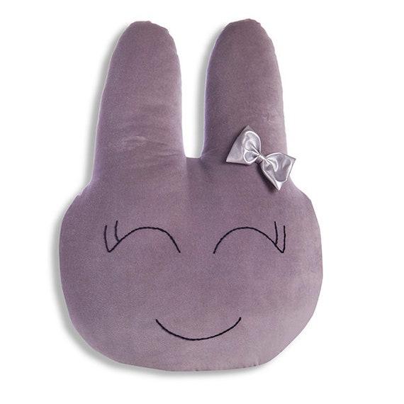 Bunny Pillow – lapin, lapin molle, lapin en peluche, coussin lapin, coussin nullard - Grey