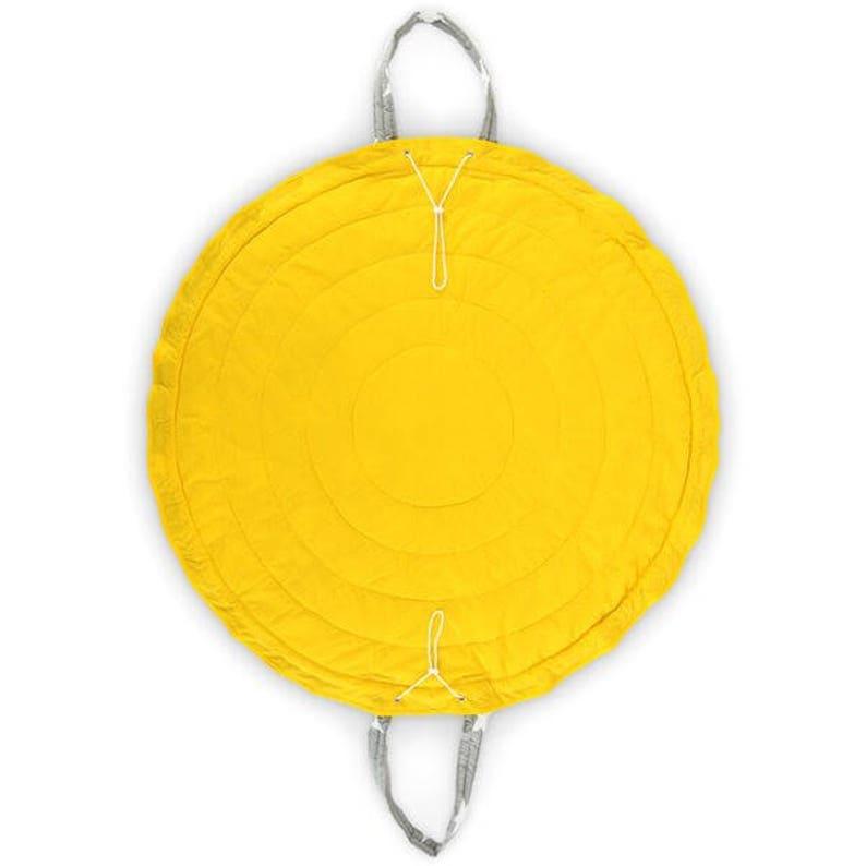 Sunny Morning Sack for Toys Fun Mat Toy Bag Grab and Go Mat Yellow Stars Play Mat /& Bag Storage Bag Travel Bag Bag for Toys