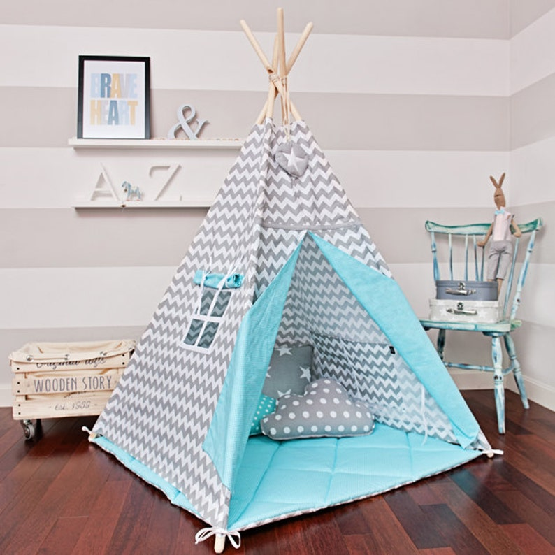 Magical Turquoise Teepee Tent