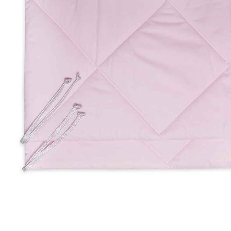Teepee set with floor mat and pillows \u2013 Silver Pink
