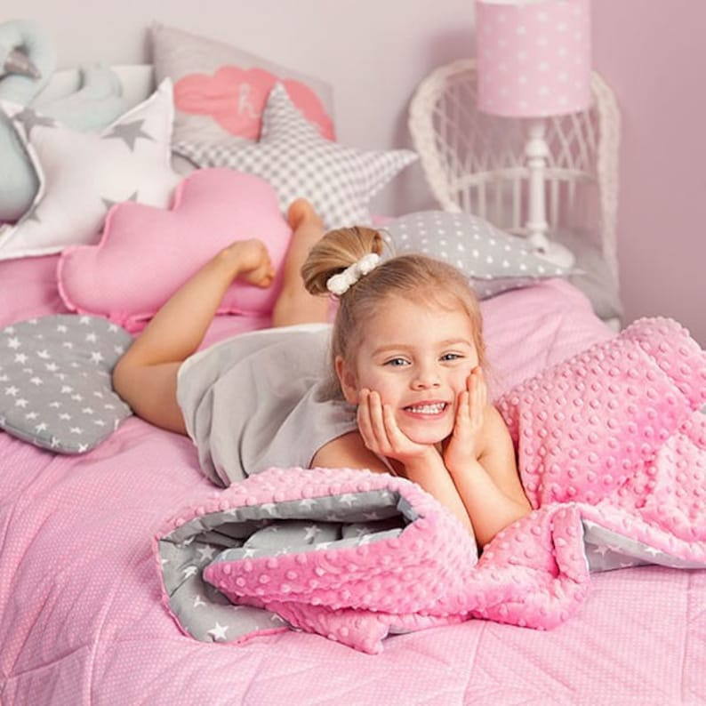 Navy and Blue Blanket Navy Sailor Blanket Set for Child L Bedding Set Quilt and Pillow for Child Anchors Blanket Minky Baby Blanket