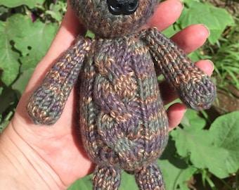 Knitted Teddy Bear - Gertrude