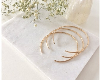 Hammered Stacking Cuff Bracelet| Bangle Bracelet| Cuff Bracelet| Gold Cuff Bracelet | 14k Gold Filled or Sterling Silver