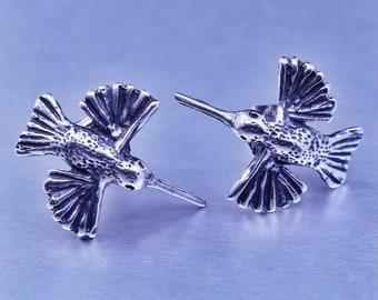 Baby Blue MOTHERS DAY SALE Vintage Look Hummingbird Earrings