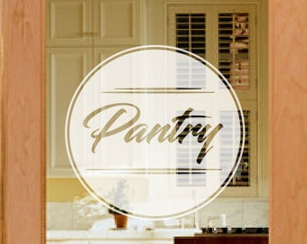 Pantry Door Decal, Frosted Glass Decals, Etched Vinyl Decal, Frosted Pantry  Door Decals, Custom Door Decals, Kitchen Door Decals