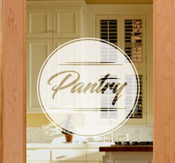Pantry Door Decal Frosted Glass Decals Etched Vinyl Decal Etsy