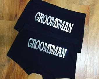 Personalised Groom Wedding Underwear - Groomsman Gift