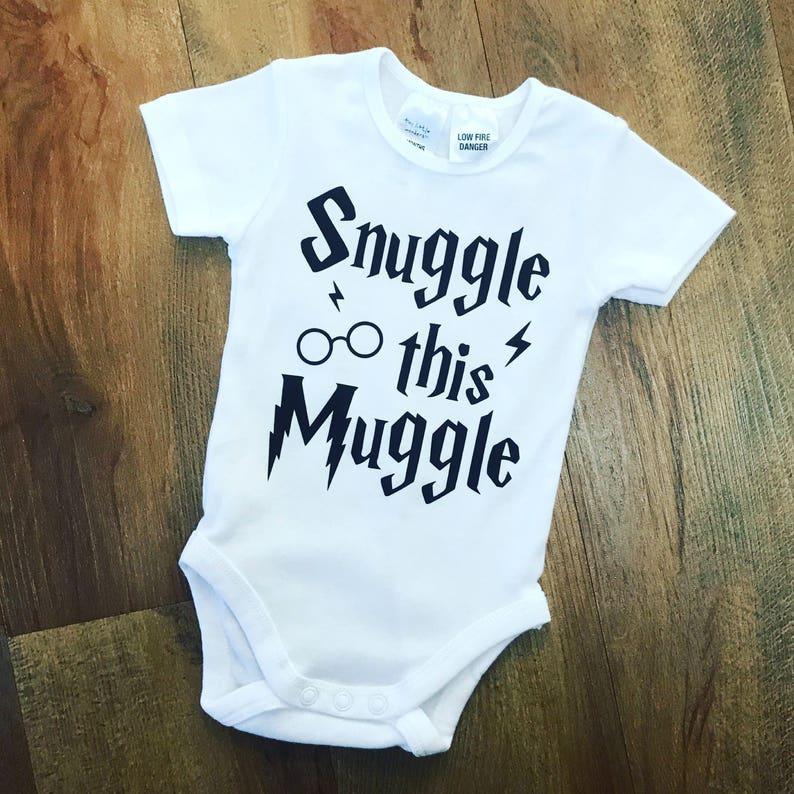 985dc3385 Snuggle this Muggle Baby Onesie Baby Romper Harry Potter   Etsy