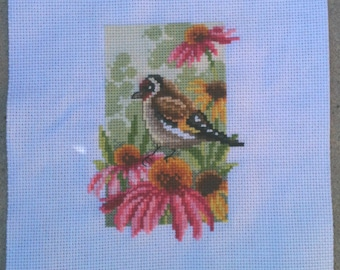 Four Seasons Summer Finished Cross Stitch, 18ct white aida 3x4.5 Vervaco