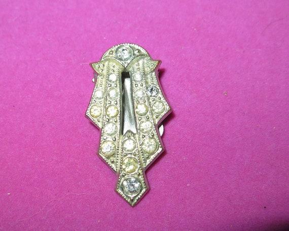 Lovely vintage Deco diamante dress clip