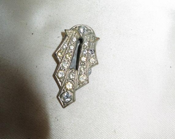 Lovely vintage Deco diamante rhinestone dress clip