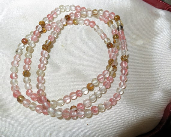 Lovely Natural 4mm  natural watermelon tourmaline stretch bracelet