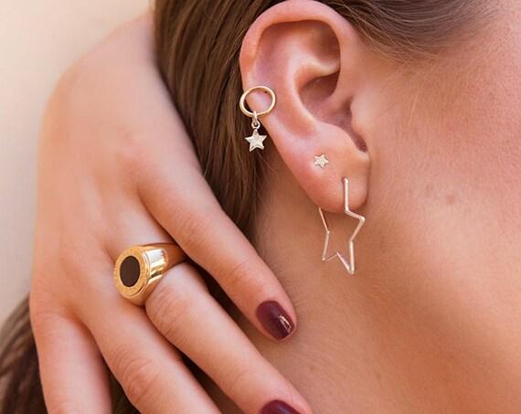 """ON SALE Lovely new sterling silver """"Stellar"""" Star earrings for pierced ears"""