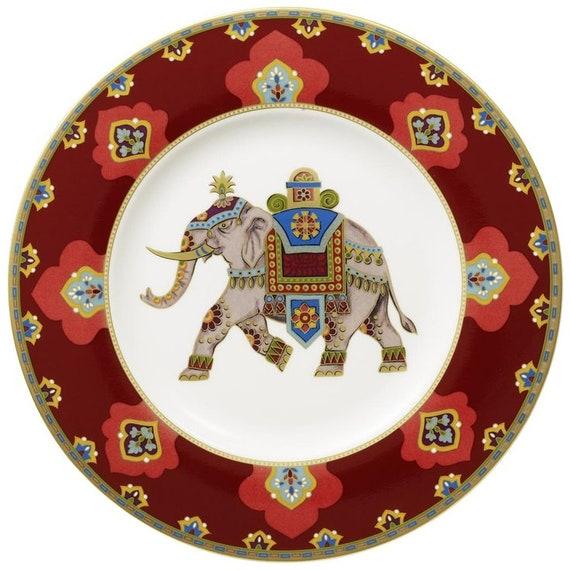Villeroy & Boch Samarkand Rubin Indian Elephant design 22 cm Plate