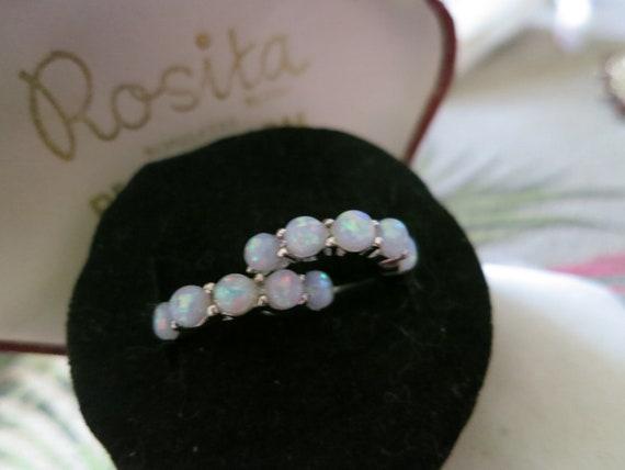 Beautiful silver plated fire opal stud hoop earrings