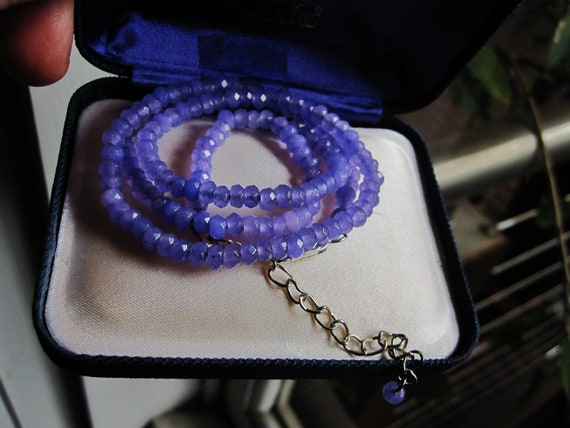 Attractive 4 mm natural pale amethyst necklace