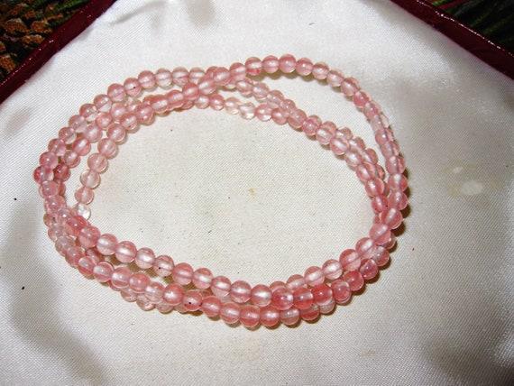 Lovely round 4mm cherry  quartz stretch bracelet
