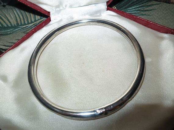 Wonderful antique vintage Art Deco hallmarked sterling silver upper arm bangle