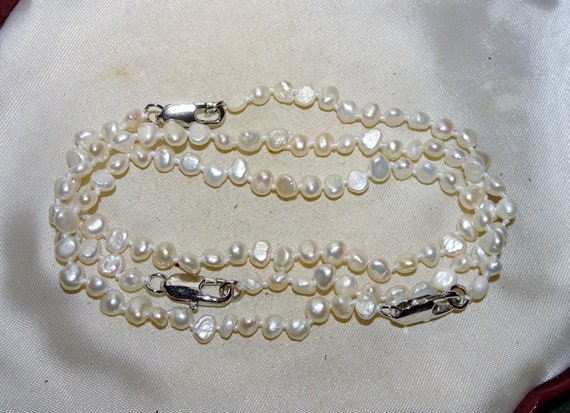Lovely 6 mm cultured freshwater pearl white bracelet 7.5 inches