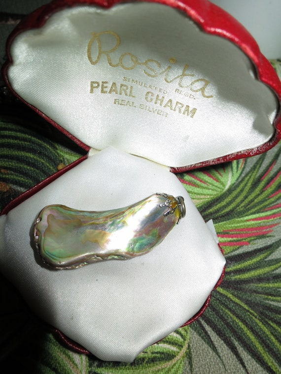 """Beautiful   Vintage large 1.9"""" abalone paua shell  pendant for necklace"""